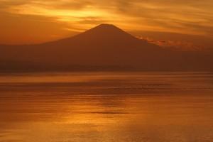 湘南,鵠沼海岸、ダイアモンド富士