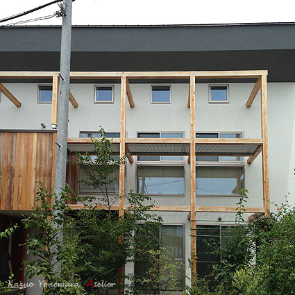 木格子の家/石神井台の二世帯住宅 2011年竣工