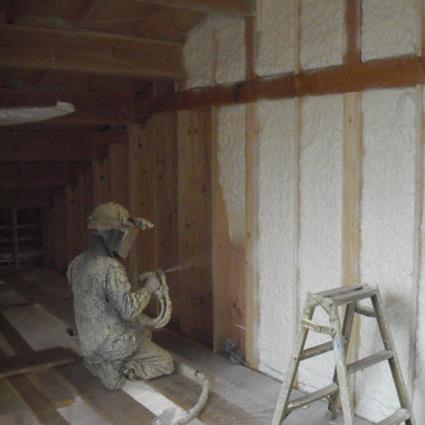 ウレタン断熱材施工 :箱根仙石原の森の中の家081