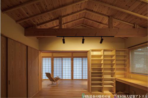 千葉県四街道市の焼杉の家