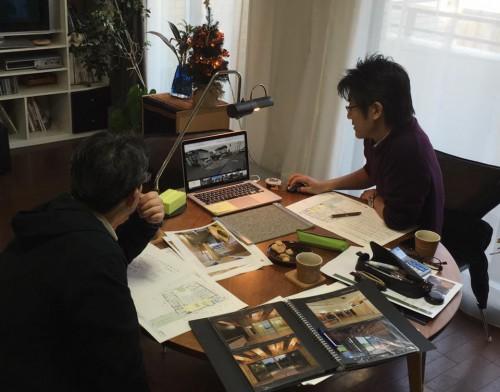 米村和夫建築アトリエでミーティング